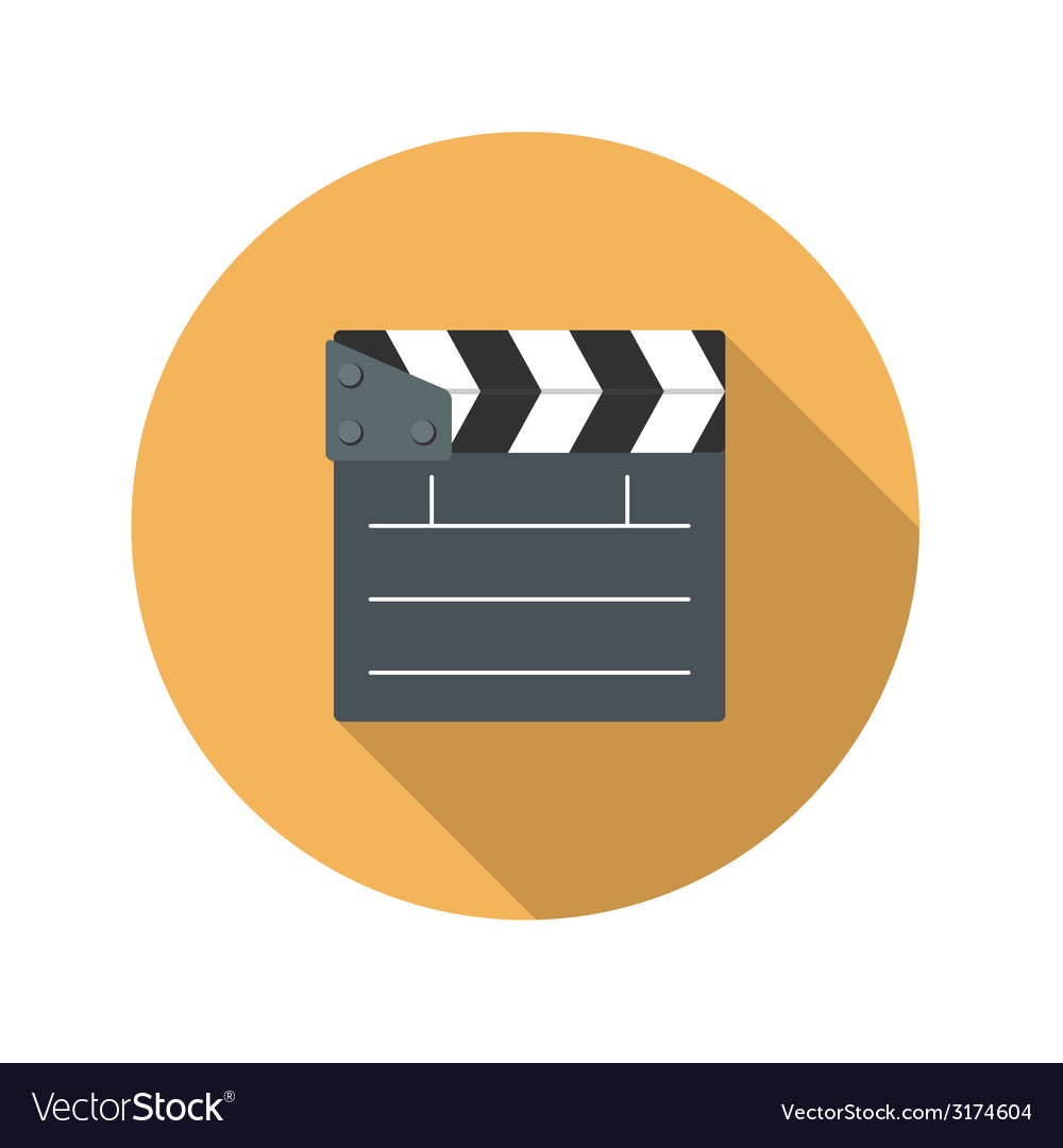 Flat design concept cinema slate board icon vector | Price: 1 Credit (USD $1)