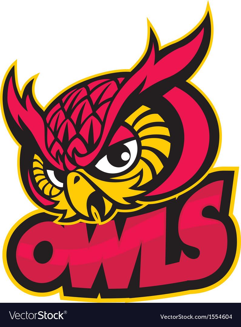Owls head mascot vector | Price: 3 Credit (USD $3)