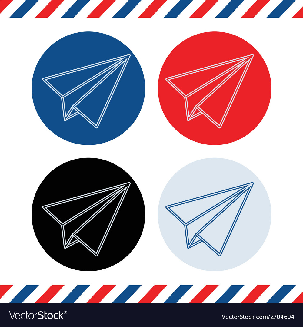 Paper plane icons on white background vector | Price: 1 Credit (USD $1)