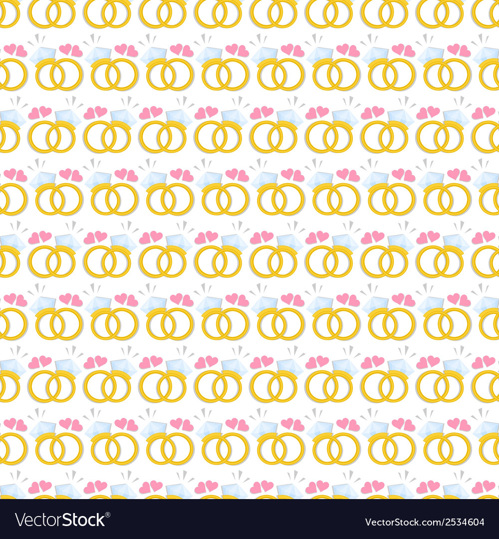 Seamless pattern with gold wedding rings vector | Price: 1 Credit (USD $1)