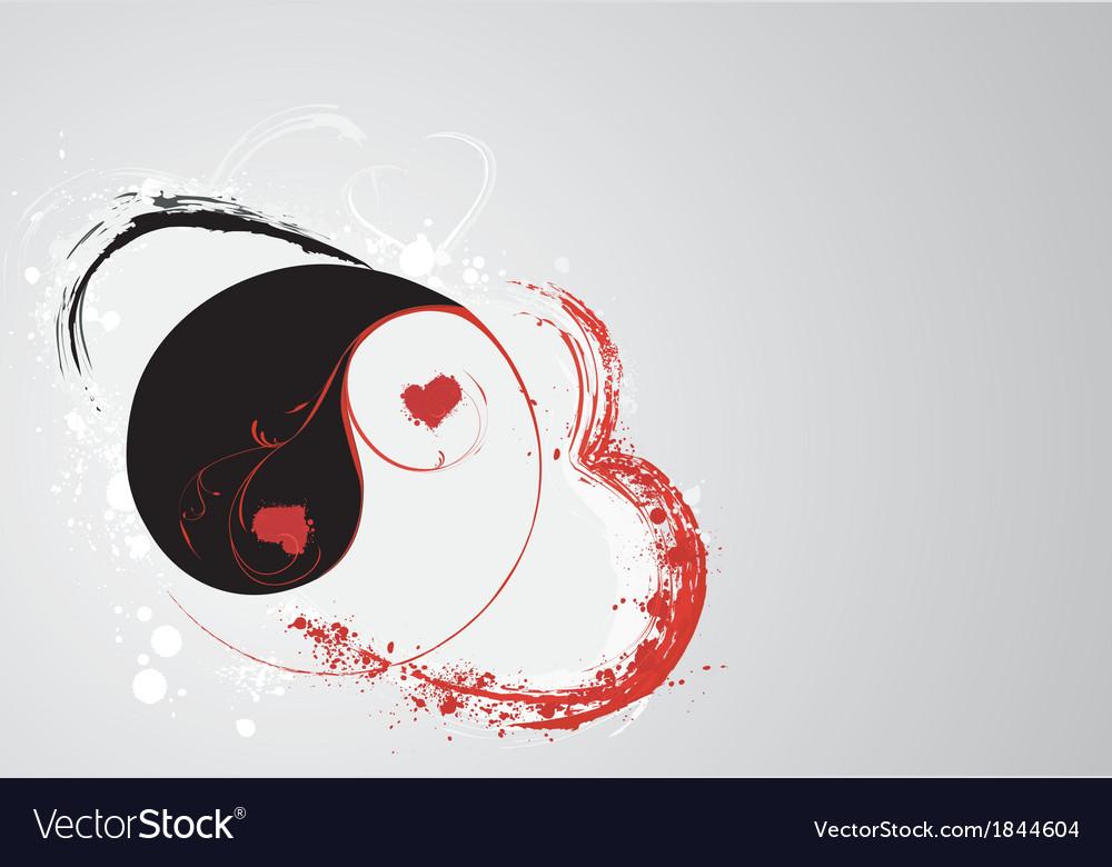 Svalentines yin e yang vector | Price: 1 Credit (USD $1)