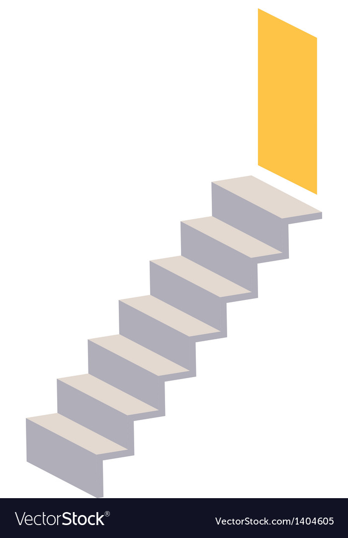 A view of stair vector | Price: 1 Credit (USD $1)