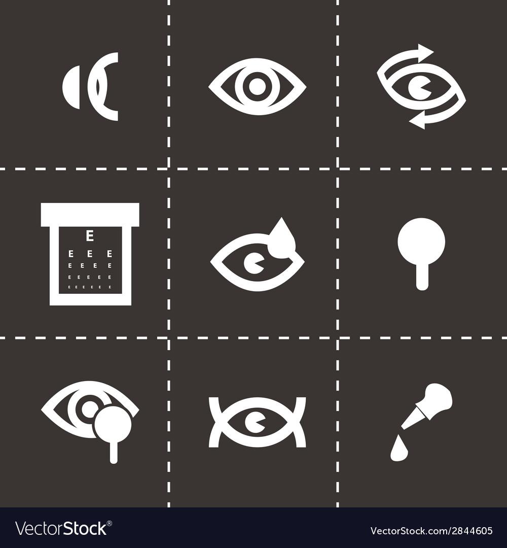 Black optometry icons set vector | Price: 1 Credit (USD $1)