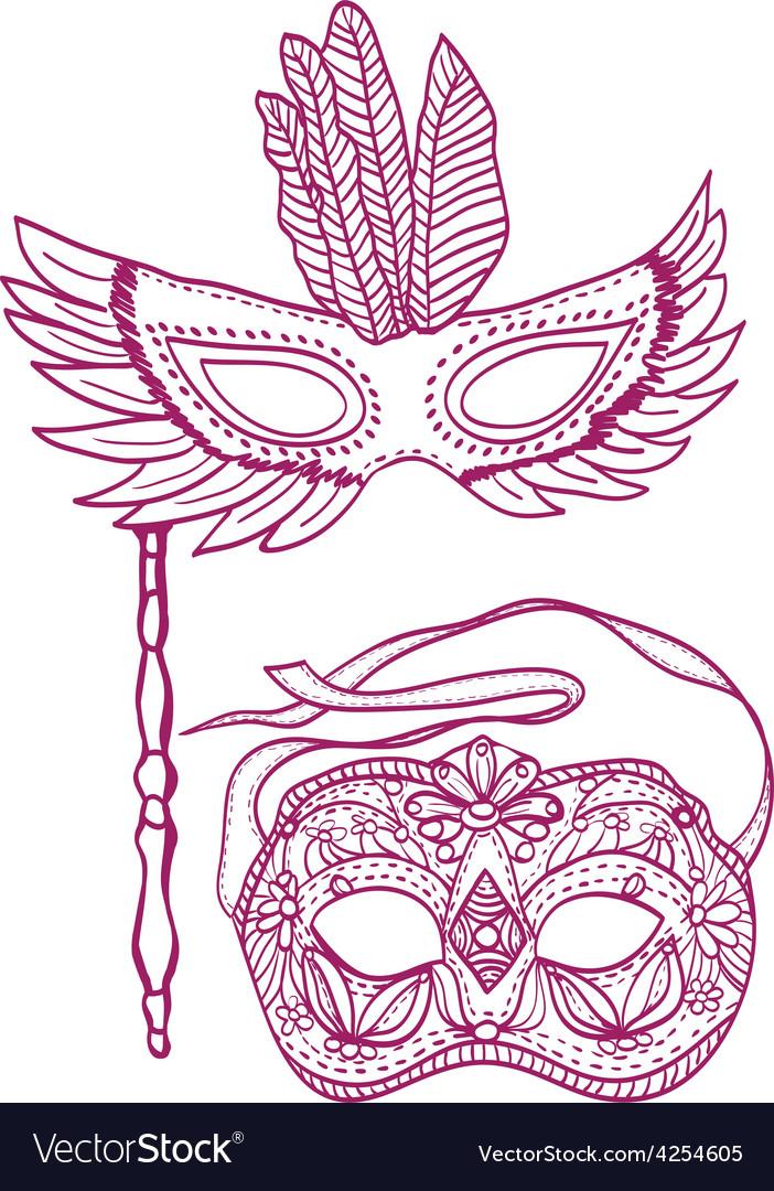 Carnival masks vector   Price: 1 Credit (USD $1)