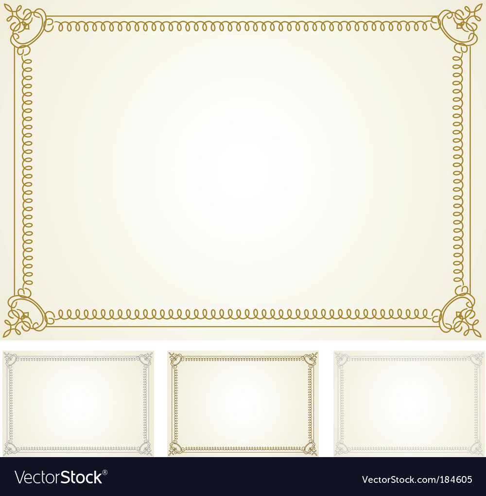 Certificate frame set vector | Price: 1 Credit (USD $1)