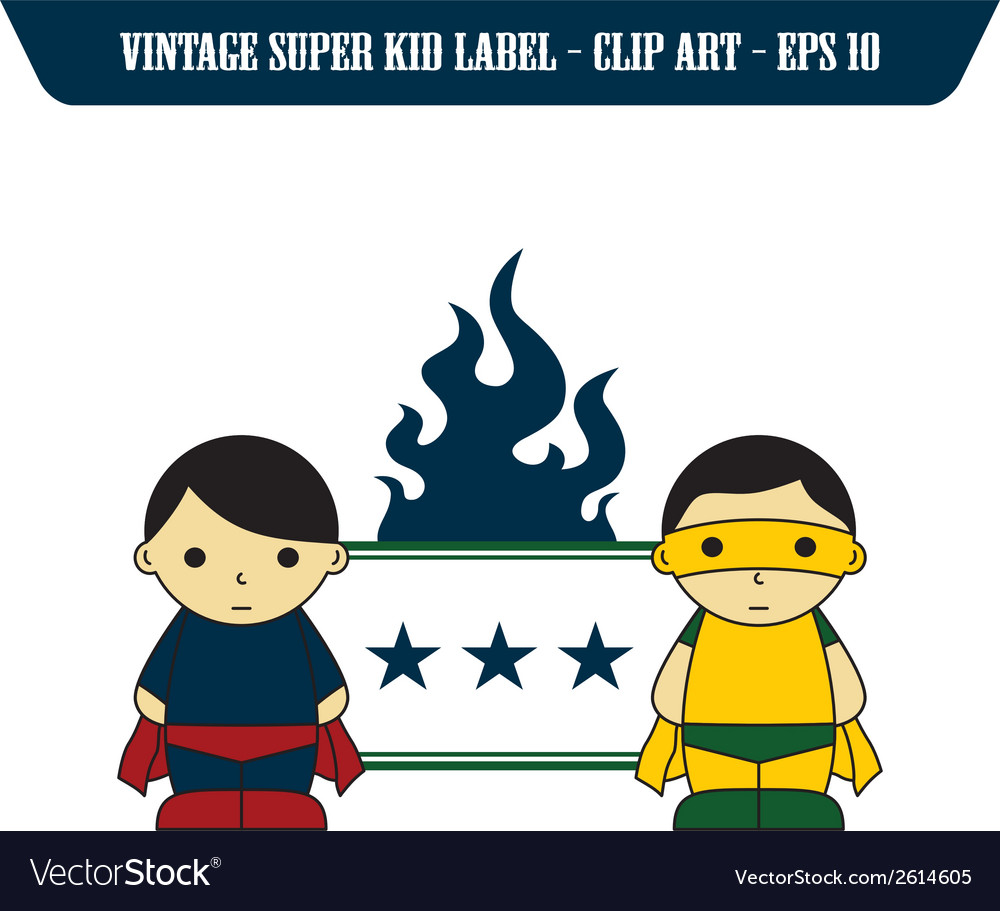 Child superhero vector | Price: 1 Credit (USD $1)