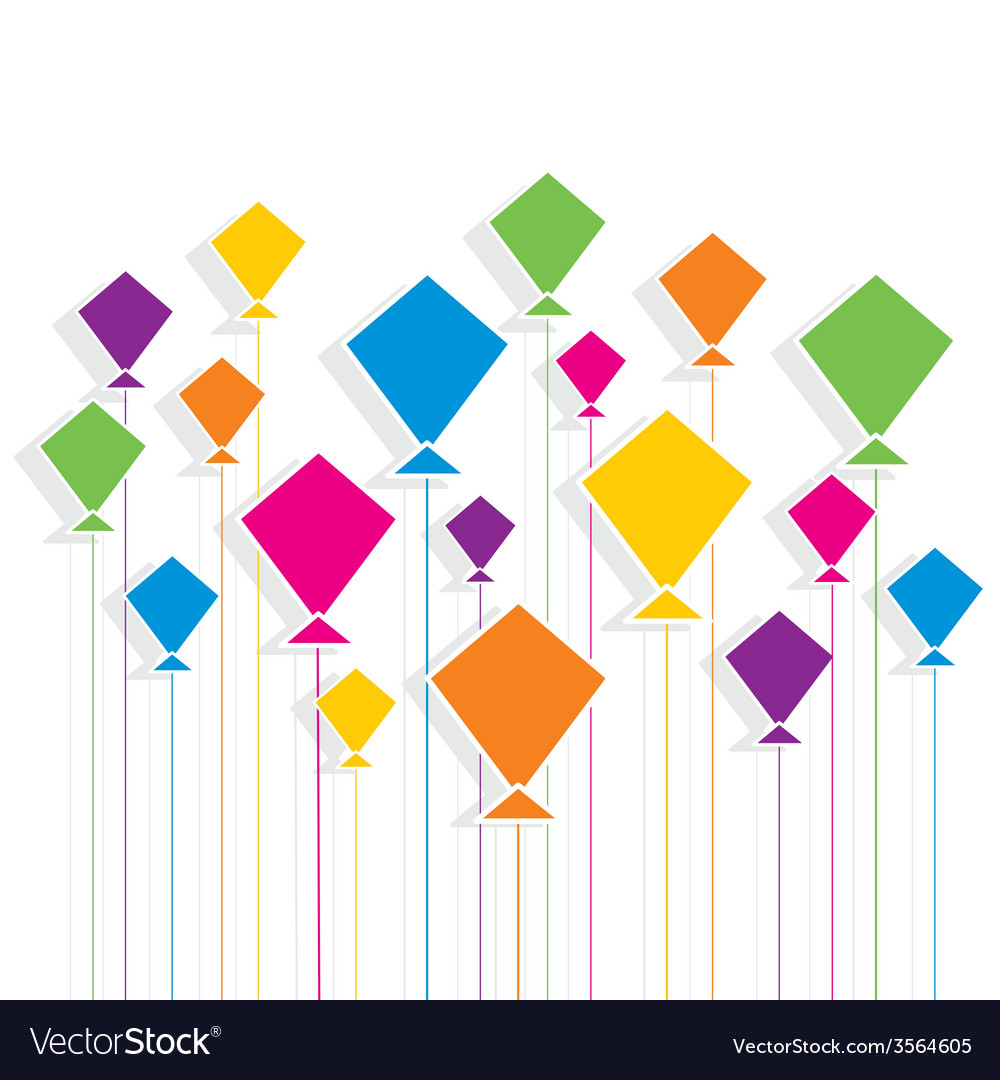 Creative colorful kite pattern vector | Price: 1 Credit (USD $1)
