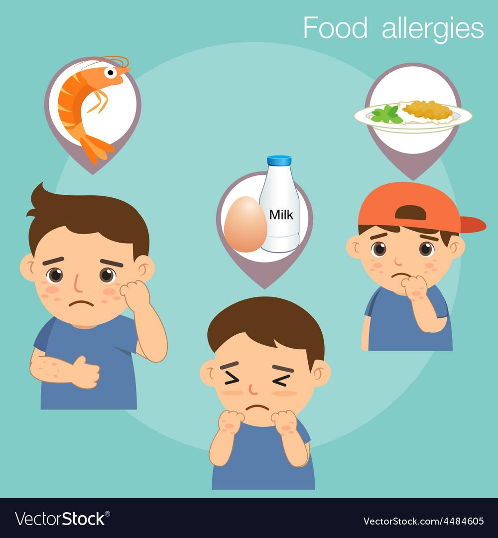 Food allergies vector | Price: 1 Credit (USD $1)