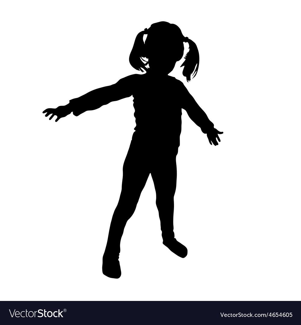 Kids silhouette vector   Price: 1 Credit (USD $1)