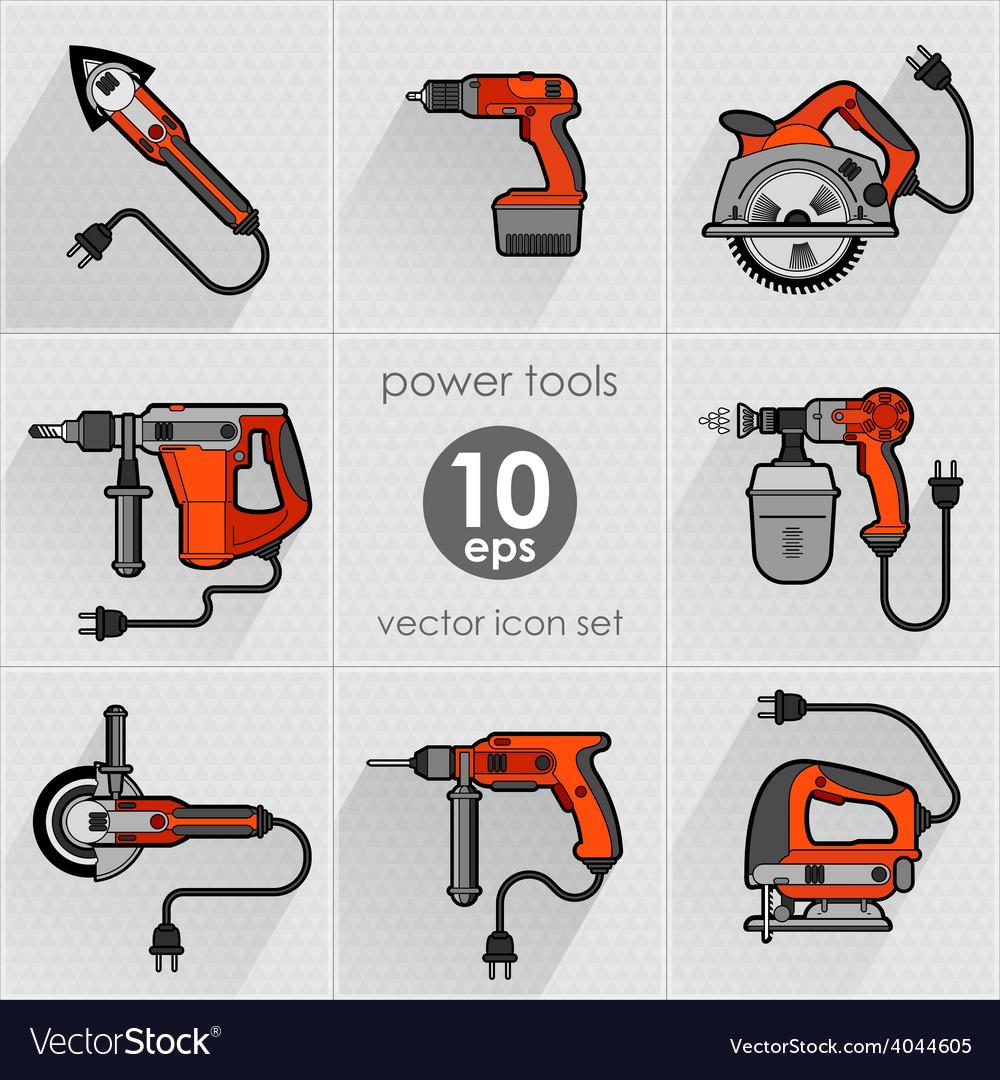 Power tool set vector | Price: 1 Credit (USD $1)