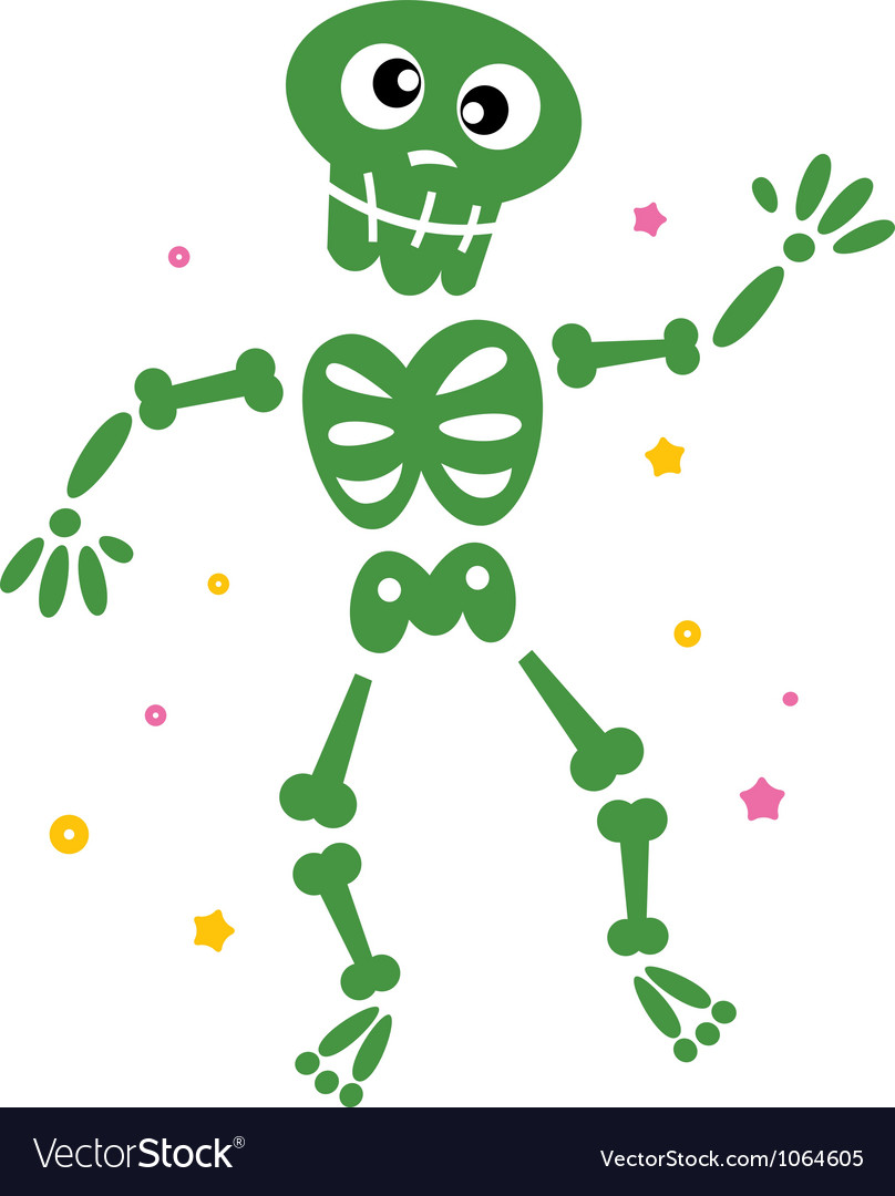 Skeleton cartoon vector | Price: 1 Credit (USD $1)
