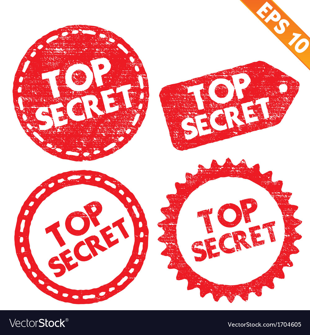 Stamp sticker top secret tag collection - - vector | Price: 1 Credit (USD $1)
