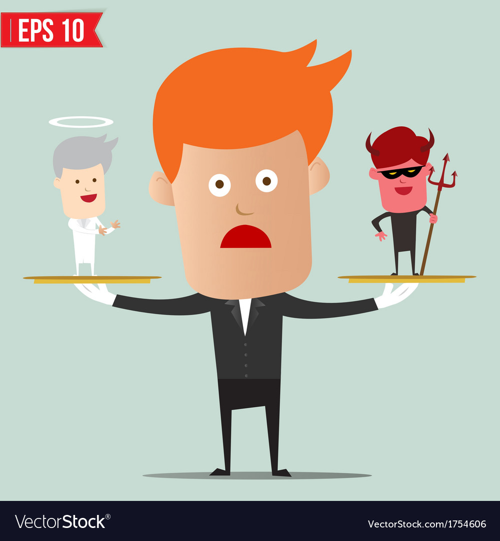 Business man select choice - - eps10 vector | Price: 1 Credit (USD $1)
