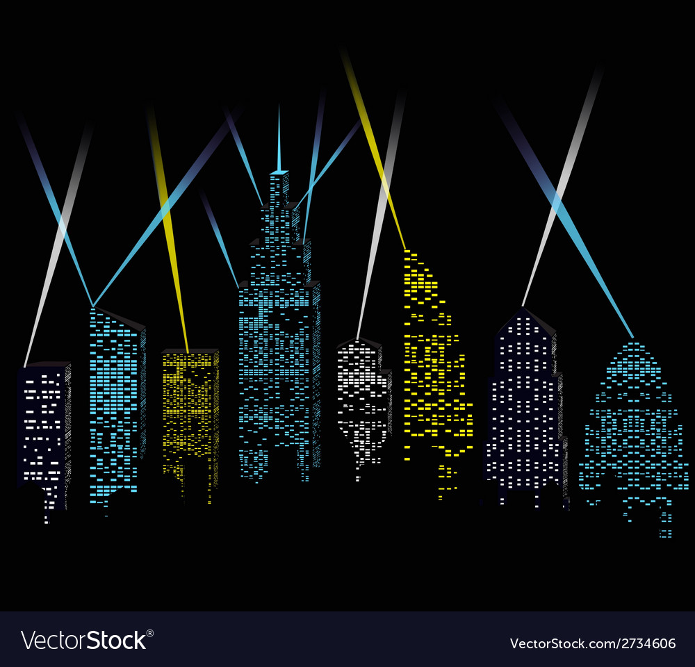 City lights vector | Price: 1 Credit (USD $1)