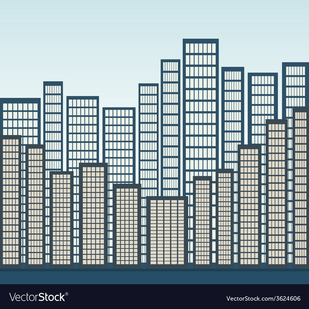 City panorama vector | Price: 1 Credit (USD $1)