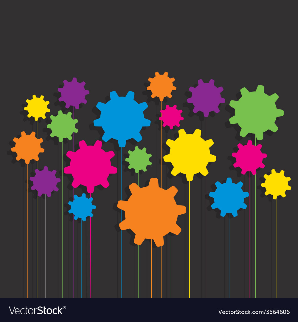 Creative colorful gear patterndesign vector | Price: 1 Credit (USD $1)