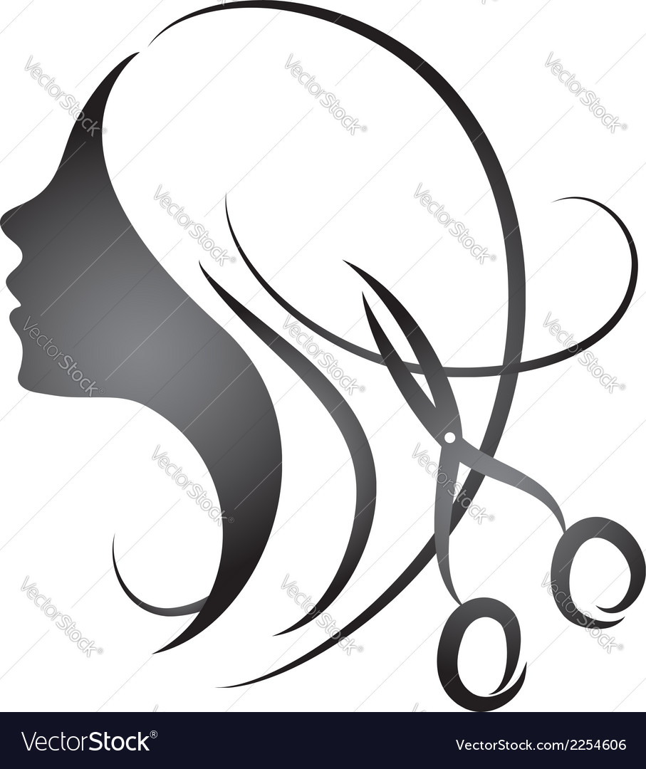 Design for womens hairdressing salon vector | Price: 1 Credit (USD $1)