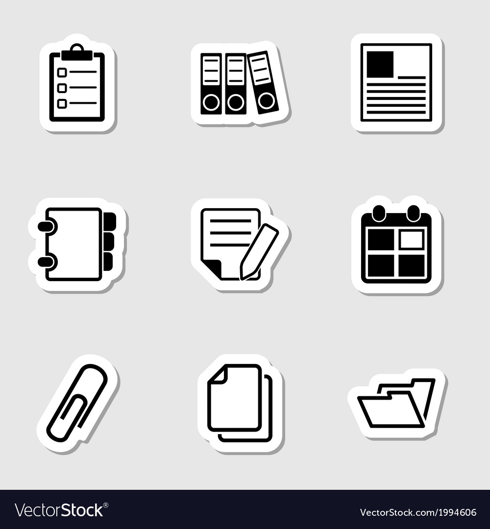 Document office icons as labes vector | Price: 1 Credit (USD $1)