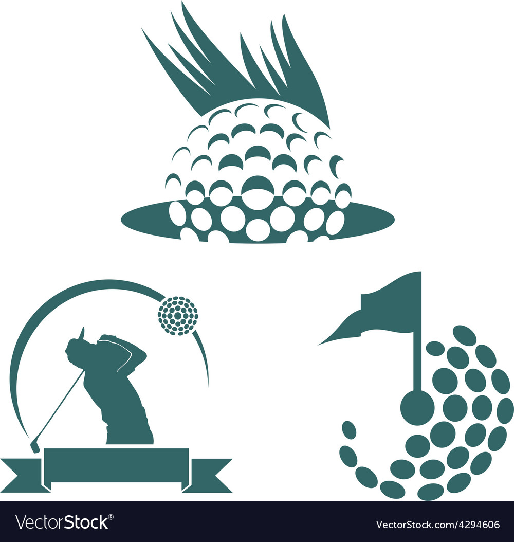 Golf icon symbol vector