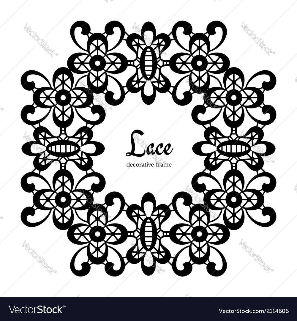 Round lace frame vector | Price: 1 Credit (USD $1)