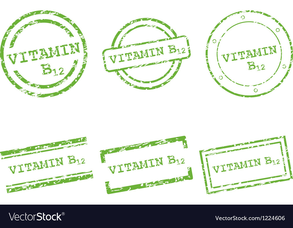 Vitamin b12 stamps vector | Price: 1 Credit (USD $1)