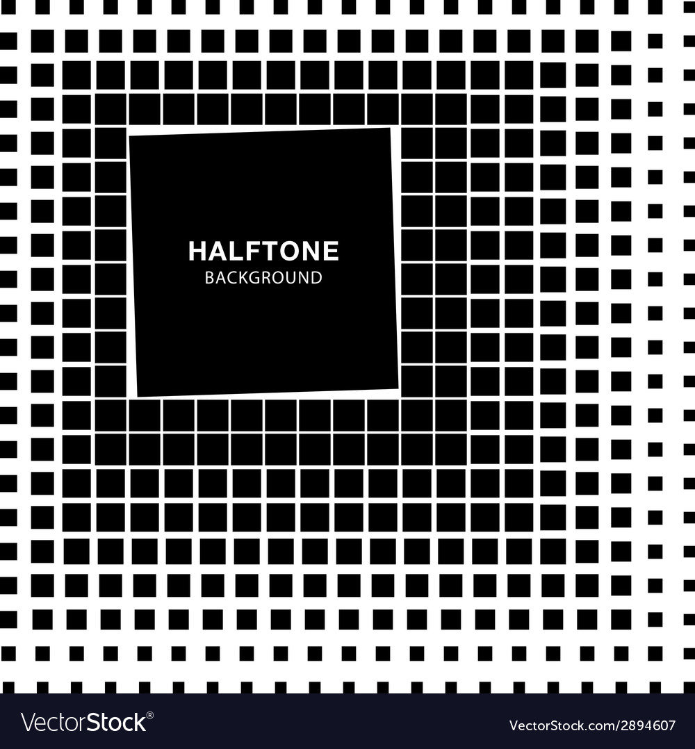 Abstract halftone square background vector | Price: 1 Credit (USD $1)
