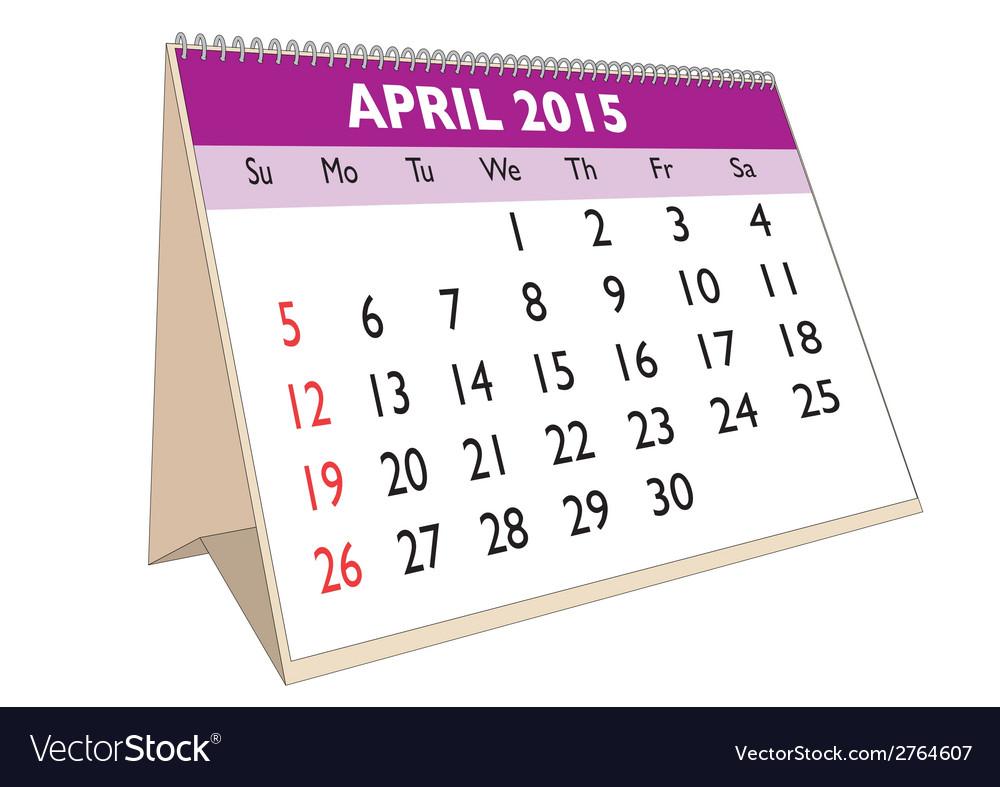 April 2015 vector | Price: 1 Credit (USD $1)