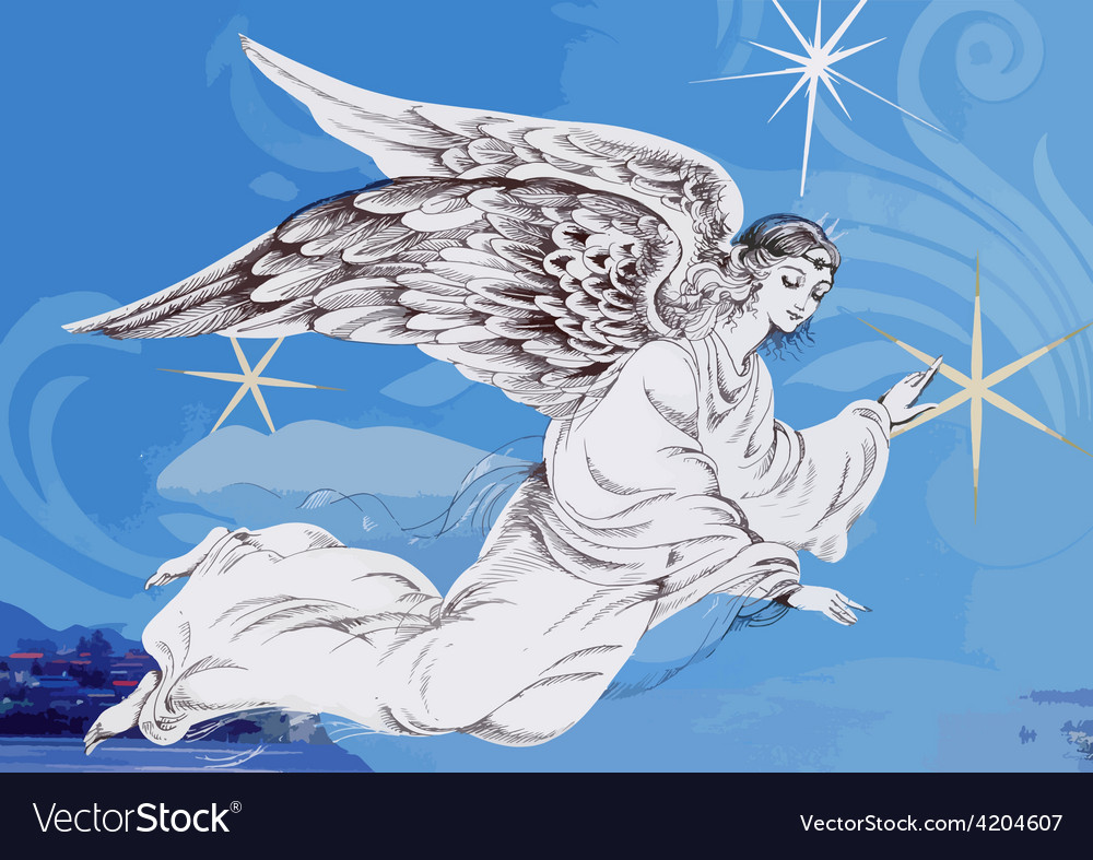 Artistic angel design vector | Price: 1 Credit (USD $1)