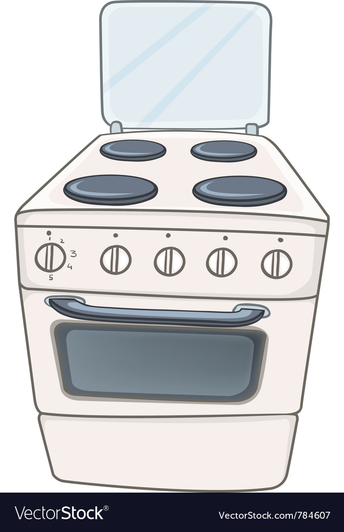 Cartoon home kitchen stove vector | Price: 1 Credit (USD $1)