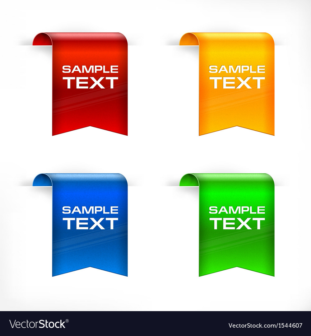 Color labels stickers text vector | Price: 1 Credit (USD $1)