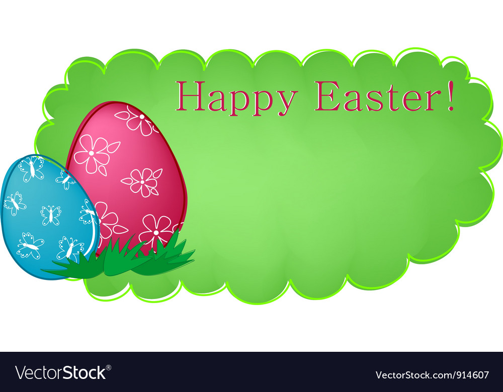 Easter banner or greetings card vector   Price: 1 Credit (USD $1)