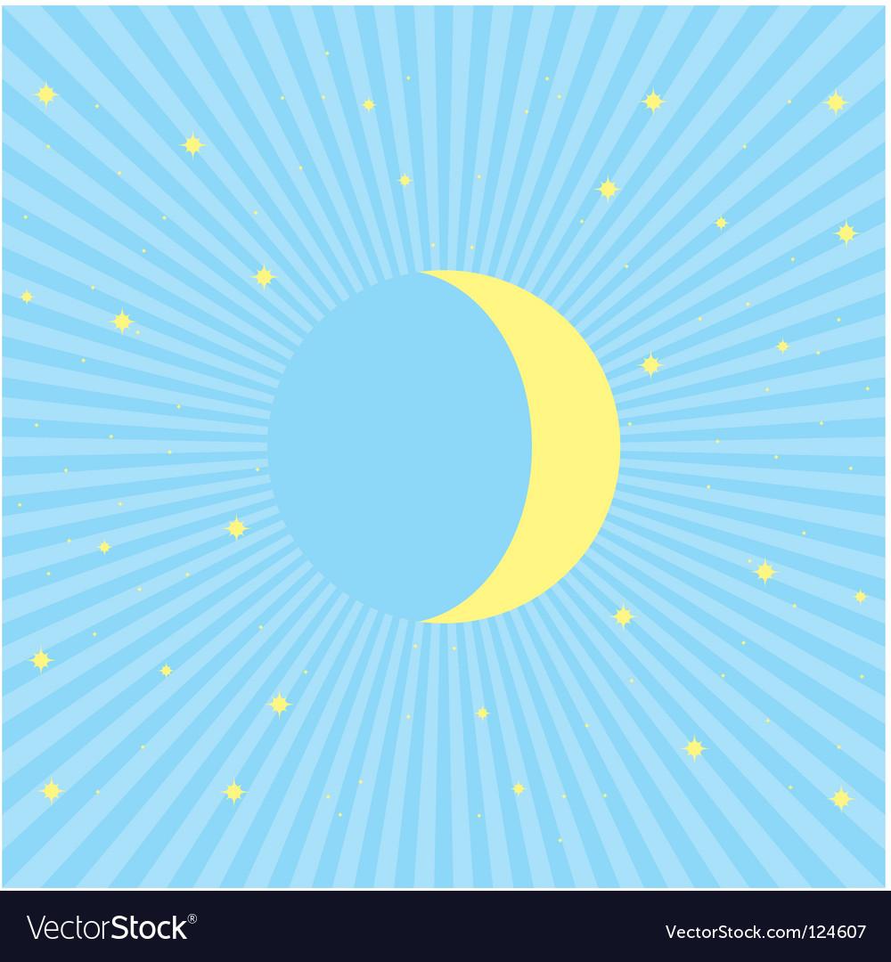 Moon vector | Price: 1 Credit (USD $1)