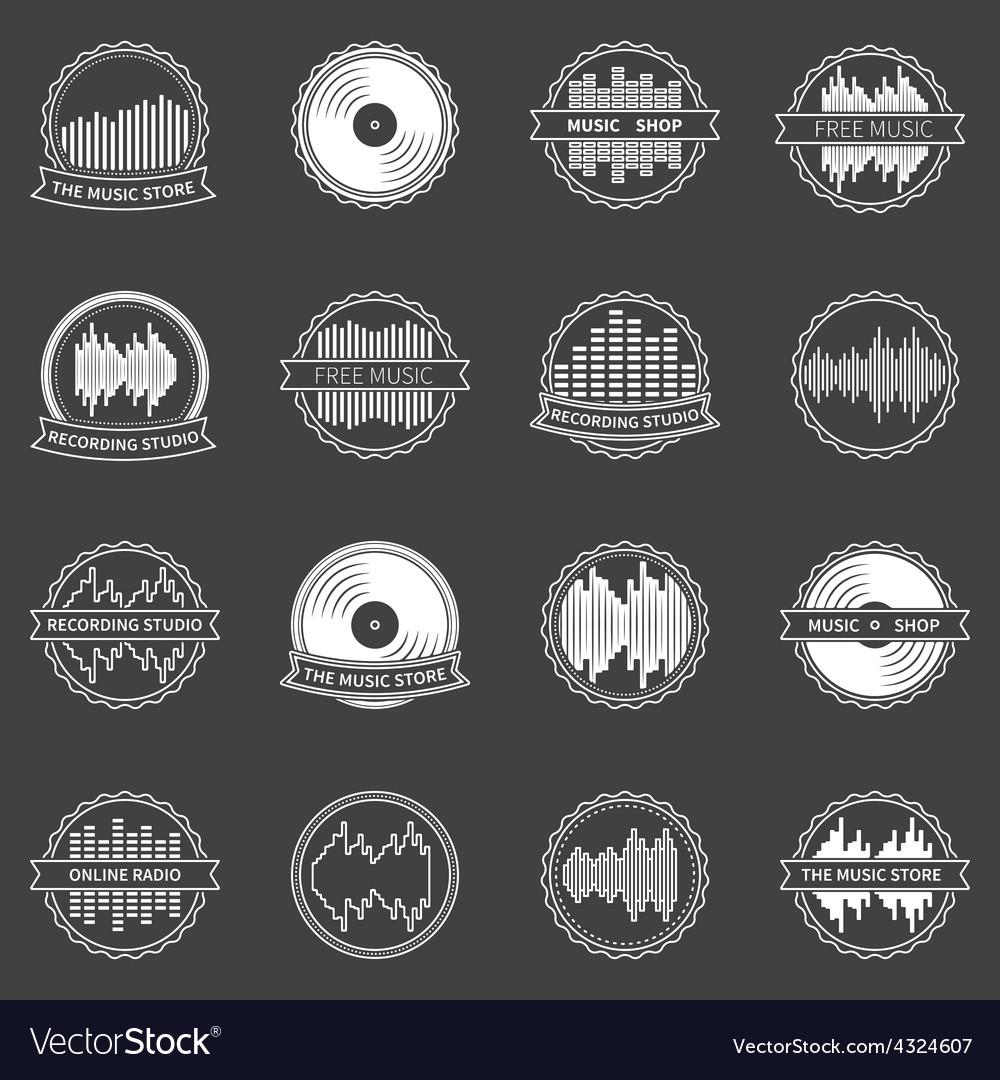 Music emblems or badges set vector | Price: 1 Credit (USD $1)