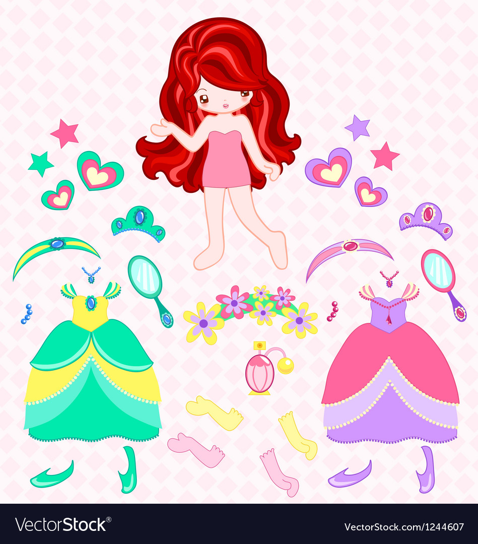 Princess dress up vector | Price: 1 Credit (USD $1)
