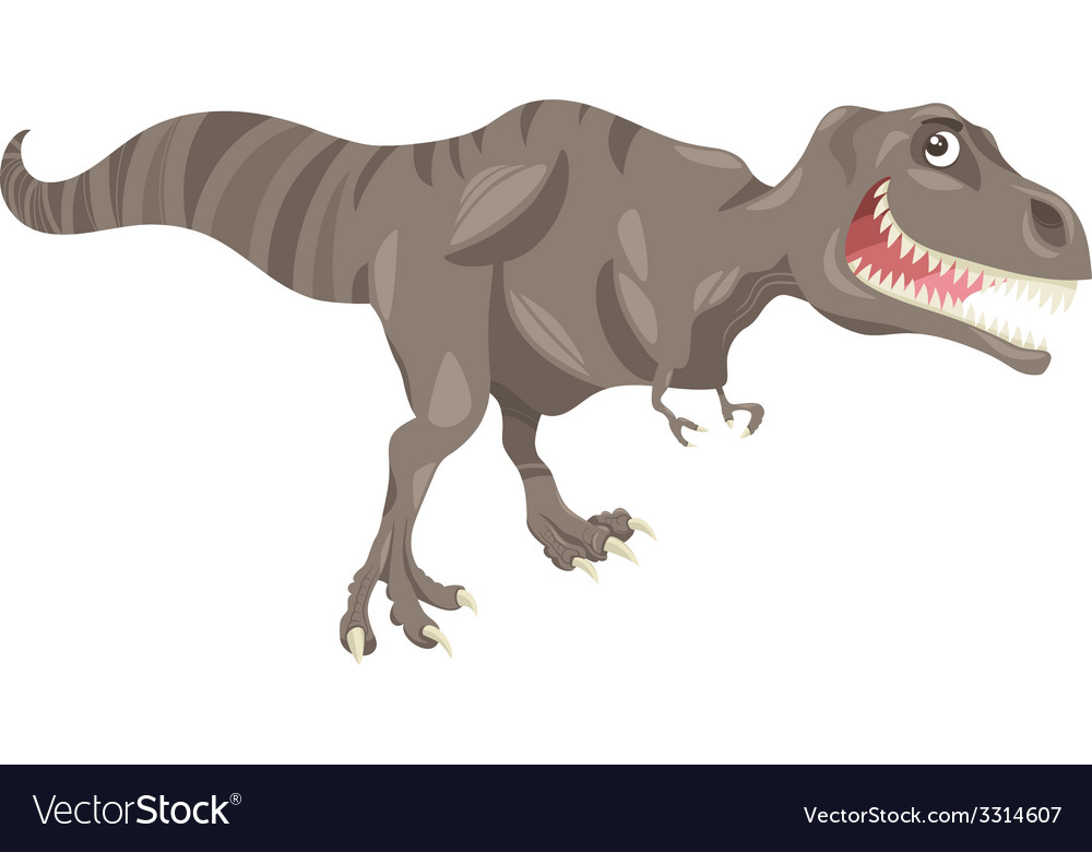 Tyrannosaurus dinosaur cartoon vector | Price: 1 Credit (USD $1)