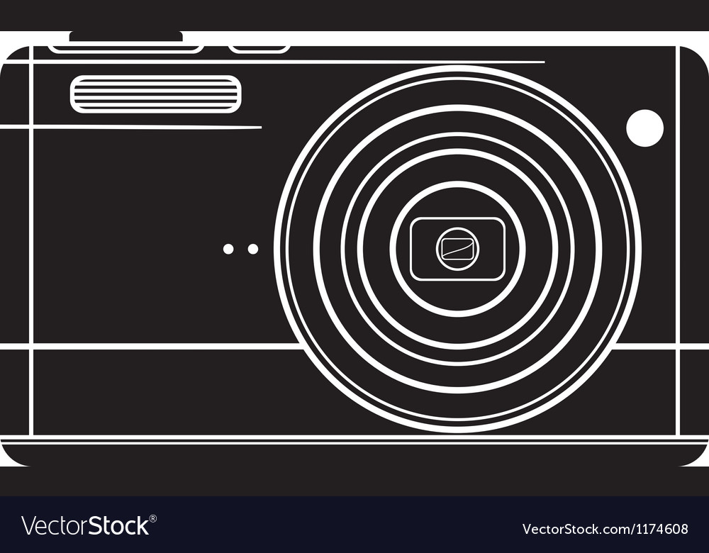 Digital photo camera vector | Price: 1 Credit (USD $1)