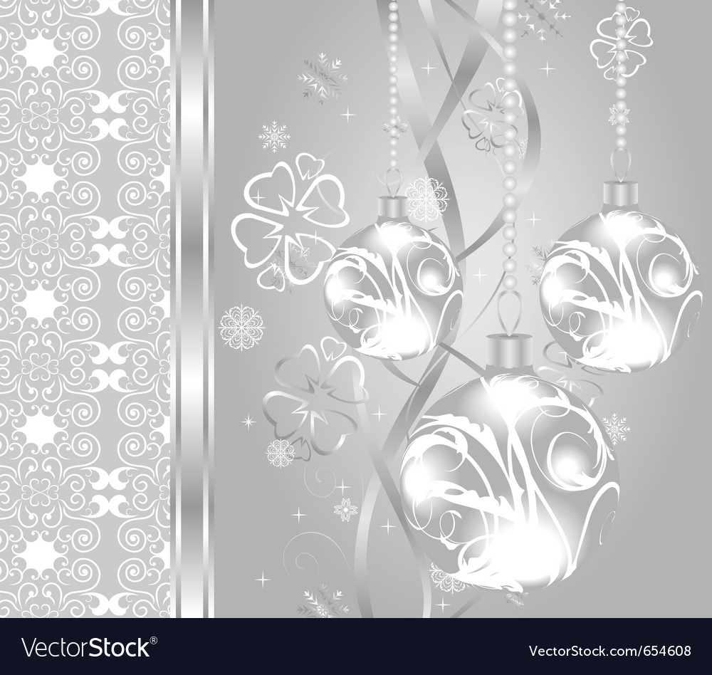 Elegant christmas background with baubles - vector | Price: 1 Credit (USD $1)