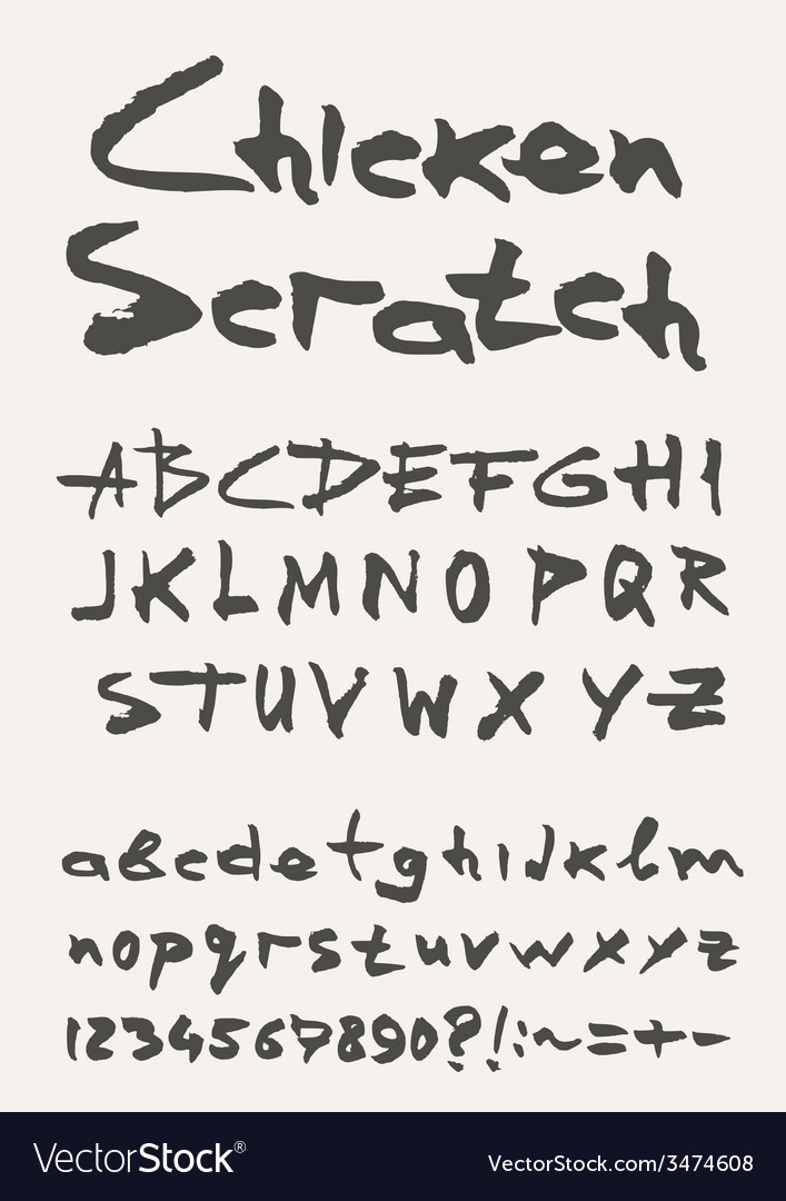 Grunge scratch type font vintage typography vector   Price: 1 Credit (USD $1)