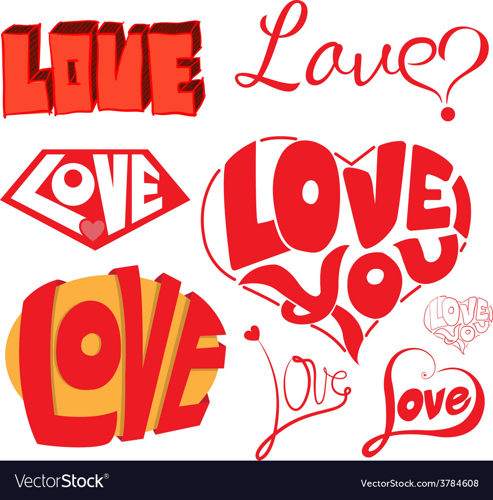 Love hearts sketchy notebook doodles design eleme vector | Price: 1 Credit (USD $1)