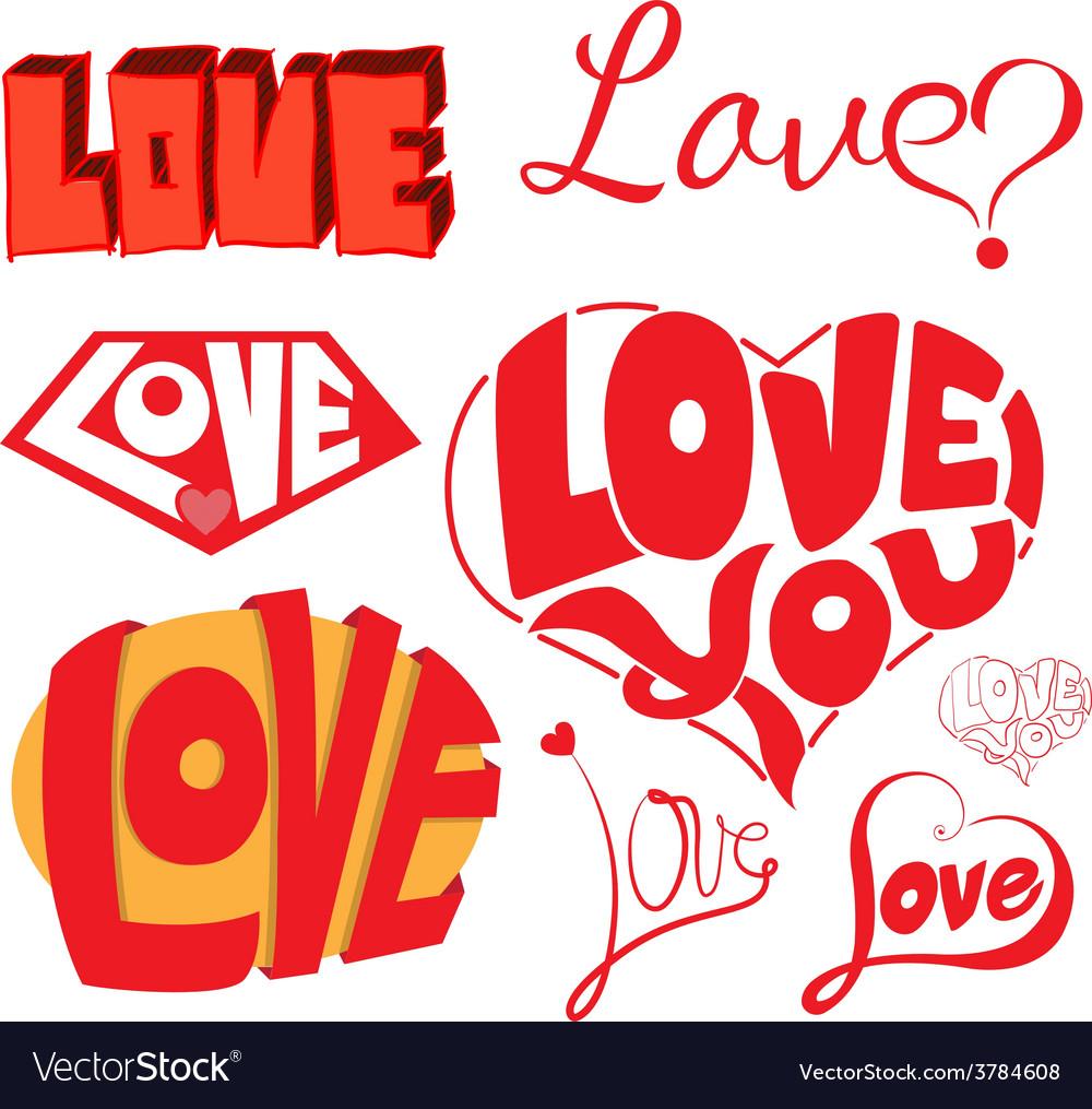 Love hearts sketchy notebook doodles design eleme vector | Price: 1 Credit (USD $1)