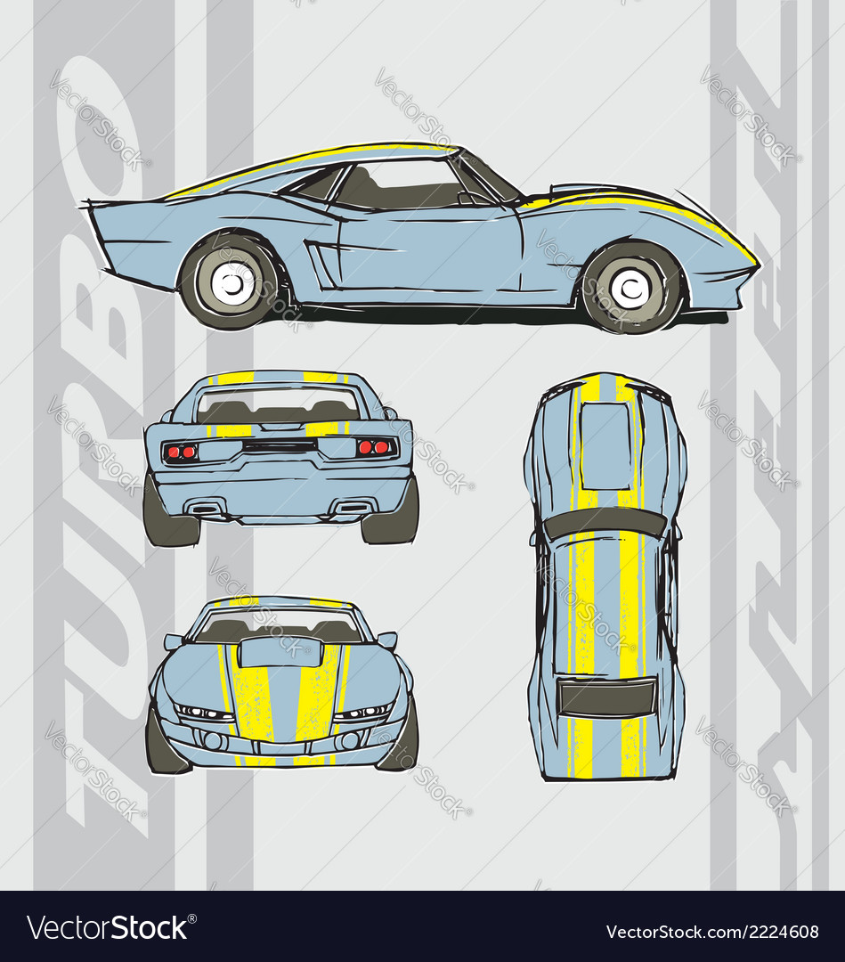 Speed car turbo vector | Price: 1 Credit (USD $1)