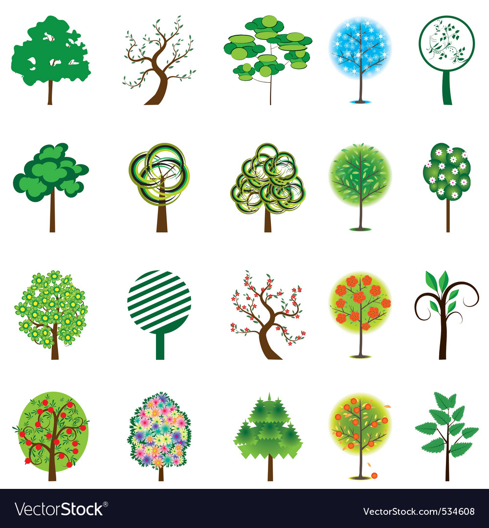 Tion of trees for design vector illustration vector | Price: 1 Credit (USD $1)