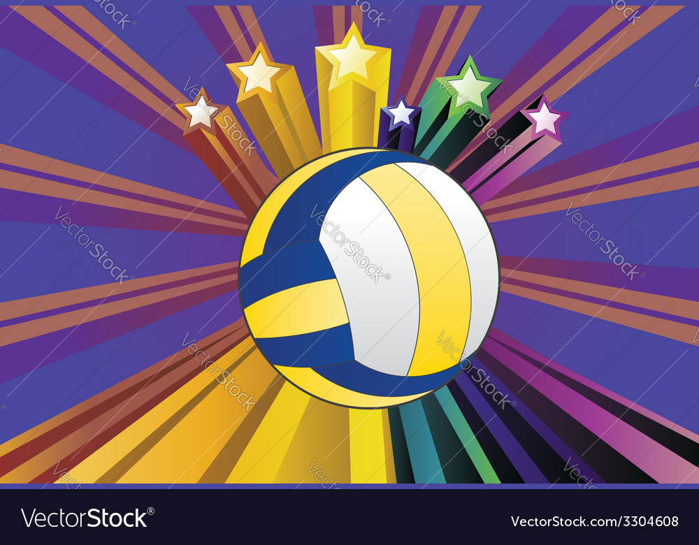 Volleyball ball background4 vector | Price: 1 Credit (USD $1)