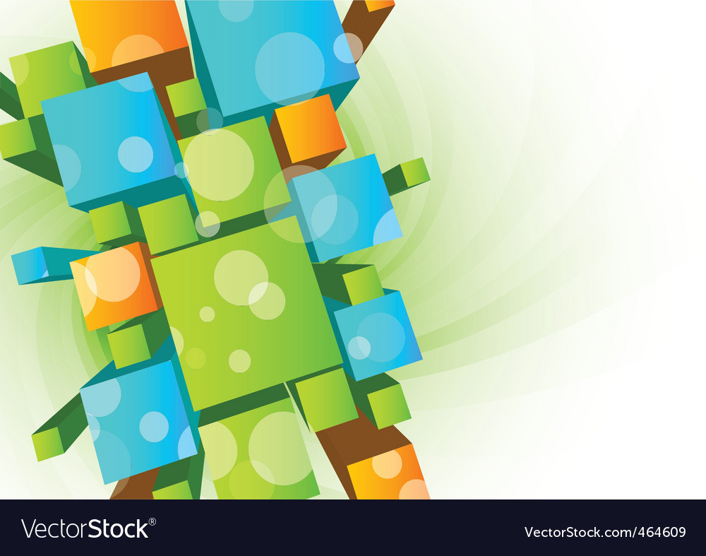 Abstract background with 3d cubes vector | Price: 1 Credit (USD $1)