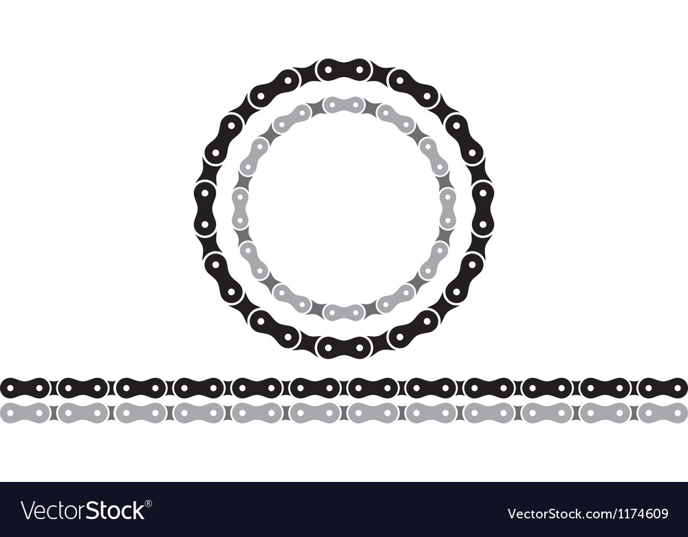 Bicycle chain silhouettes vector | Price: 1 Credit (USD $1)