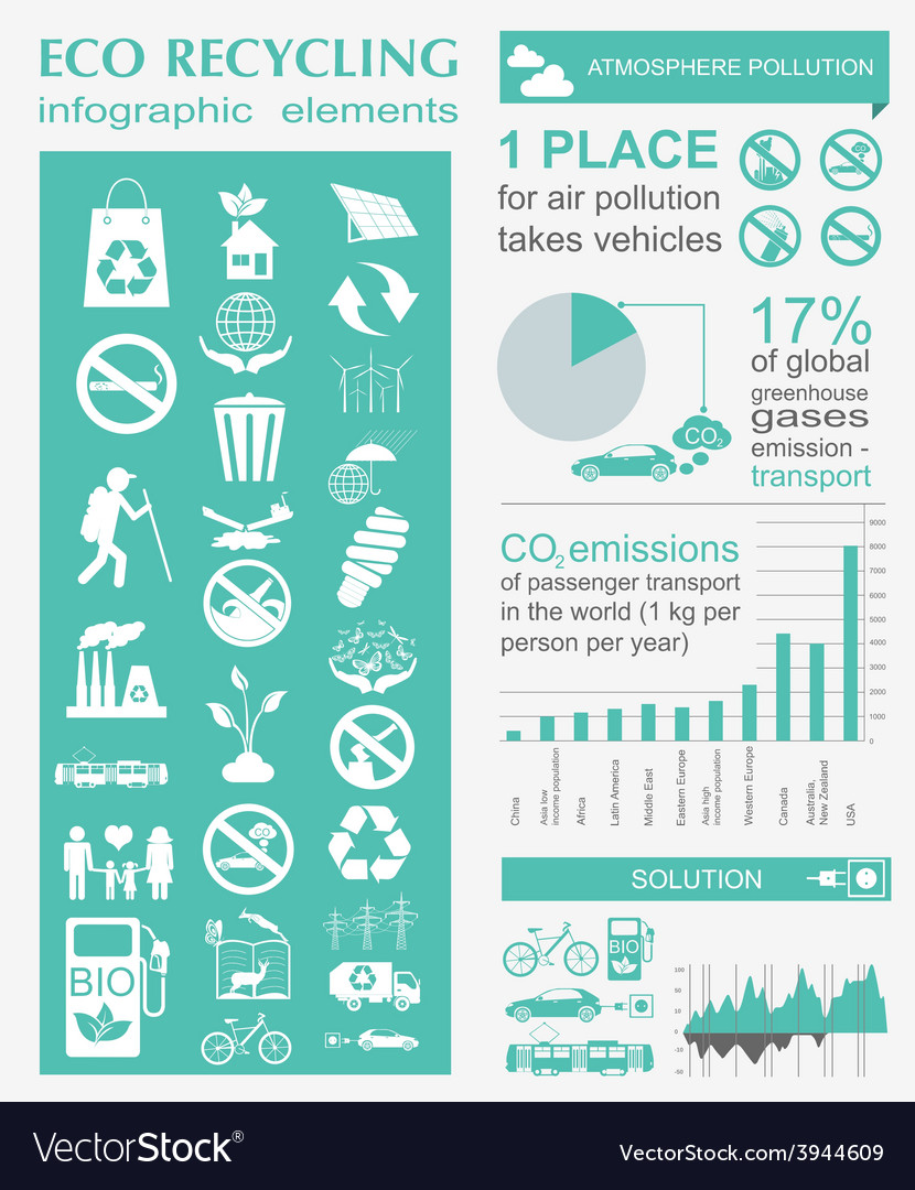 Eco infographic vector | Price: 1 Credit (USD $1)