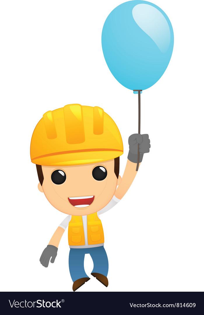 Funny cartoon builder vector | Price: 1 Credit (USD $1)