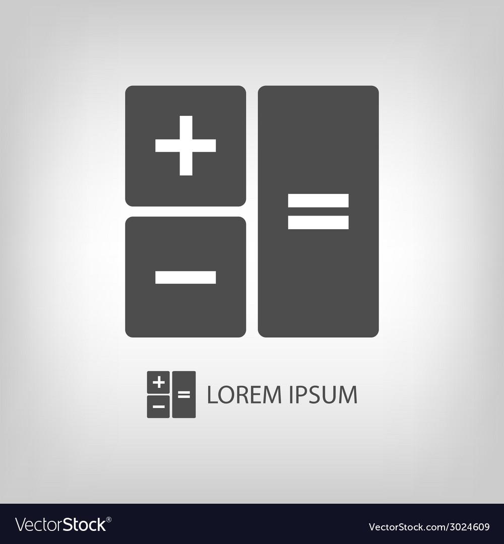 Grey calculator vector   Price: 1 Credit (USD $1)