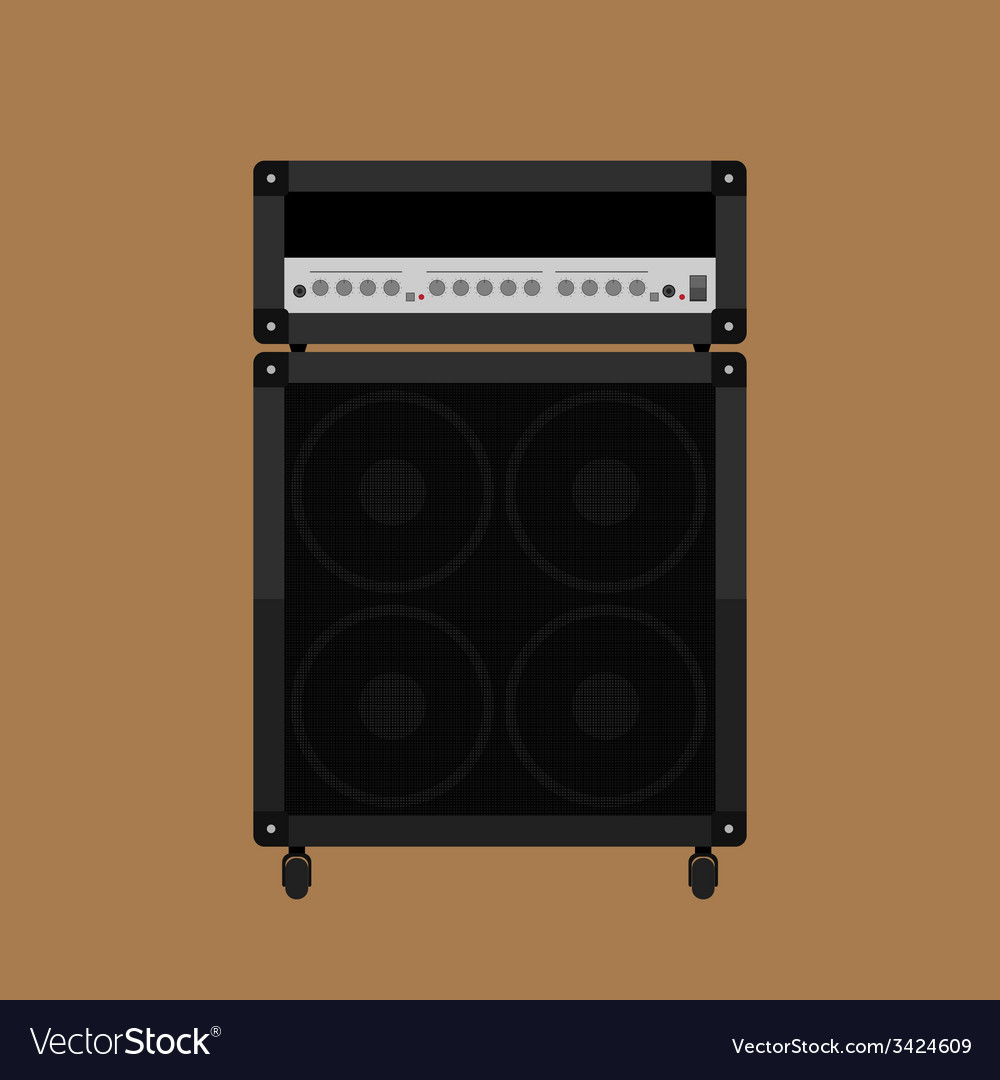 Guitar amplifier 2 vector | Price: 1 Credit (USD $1)