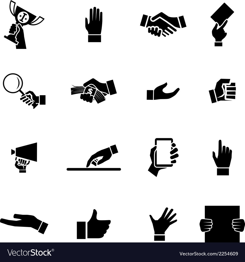 Hands icons and symbol design template vector | Price: 1 Credit (USD $1)